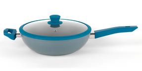 Progress BW04959 Forged Aluminium Teal 28 cm Non Stick Wok Thumbnail 1