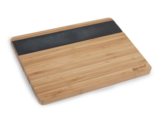 Progress BW05084 33 cm Bamboo Chopping Board With Slate Insert