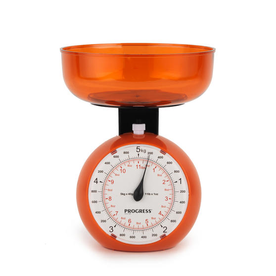Progress BW04779 Orange 5 kg Orb Kitchen Scale