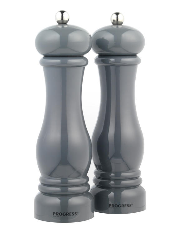 Progress BW05148 Set of 2 Grey Salt and Pepper Mills