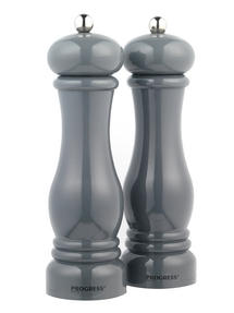 Progress BW05148 Set of 2 Grey Salt and Pepper Mills Thumbnail 1
