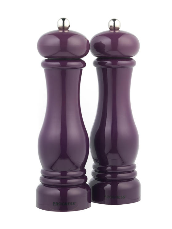 Progress BW05148 Set of 2 Purple Salt and Pepper Mills