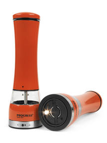 Progress BW05375 Set of 2 Orange Electric Mills with Light Thumbnail 2