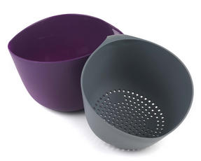 Progress BW05197 Purple and Grey Measuring Bowl and Colander Set Thumbnail 2