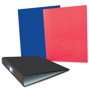 Just Stationery 6079 A4 Ring Binder ? Black/Blue/Red
