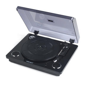 Intempo EE1513BLKSTK Black Revolve Record Player Turntable
