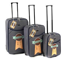 "Constellation Eva Suitcase Set, 18, 24 & 28"", Grey/Navy"