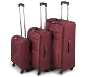 """Constellation Superlite Suitcase Set, 18, 24 & 28"""", Burgundy"""