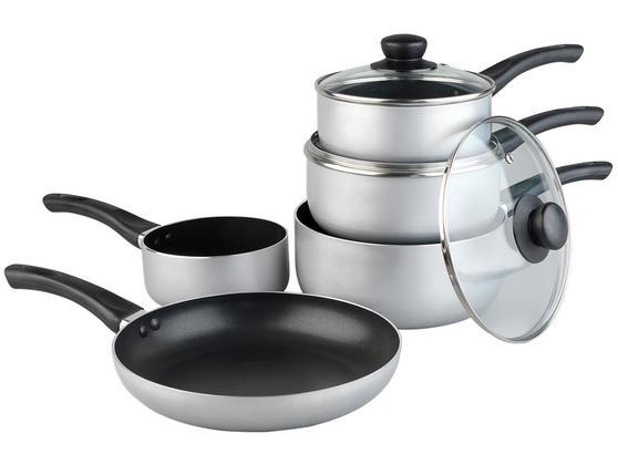 Russell Hobbs CCS162433 Zeus 5 Piece Aluminium Kitchen Pan Set