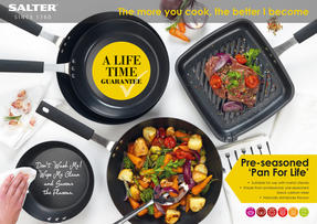 Salter Black Pan for Life 26 cm Griddle Pan Thumbnail 8