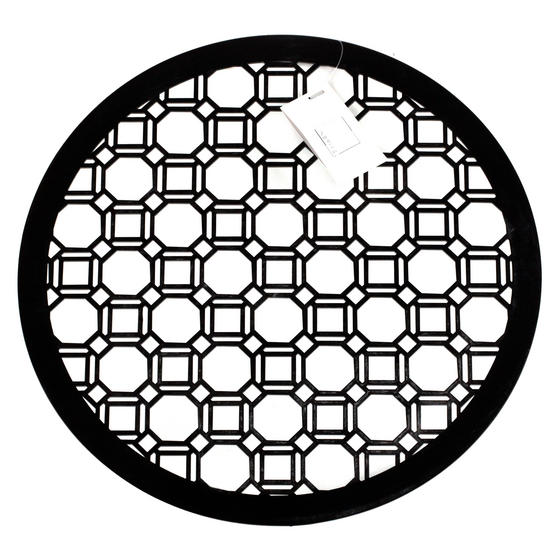 Inspire HY285959 Set of 4 Luxury Black MDF Lacquered Octagon Placemats