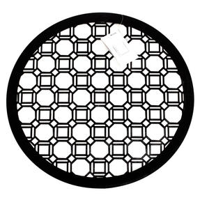Inspire HY285959 Set of 4 Luxury Black MDF Lacquered Octagon Placemats Thumbnail 1