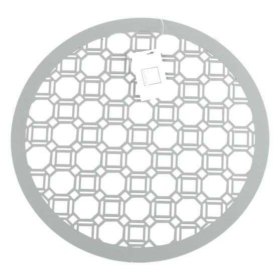 Inspire HY285997 Set of 4 Luxury Grey MDF Lacquered Octagon Placemats