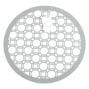 Inspire HY285997 Set of 4 Luxury Grey MDF Lacquered Octagon Placemats Thumbnail 1