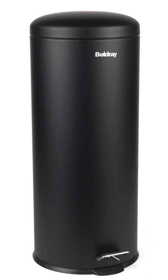 Beldray LA038074BLK 30 Litre Black Kitchen Bin with Soft Closing Lid