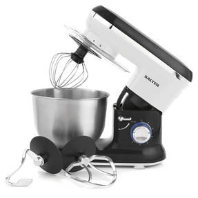Salter EK2290 Food Stand Mixer 600 Watt Black and White with 4.5 Litre Bowl Thumbnail 2