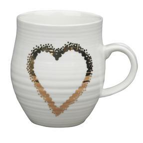 Portobello CM04931 Anglesey Gold Scattered Heart Stoneware Mug Thumbnail 1