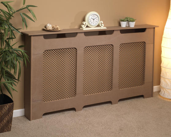 Beldray EH1839STK Wooden Radiator Cover, 100% FSC, Large, Natural Finish