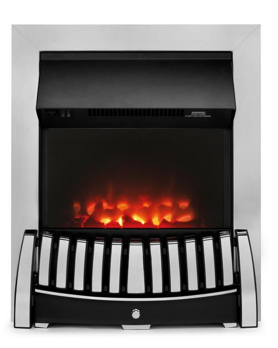 Beldray EH1843STK Almeria Chrome Effect Inset Electric Fire