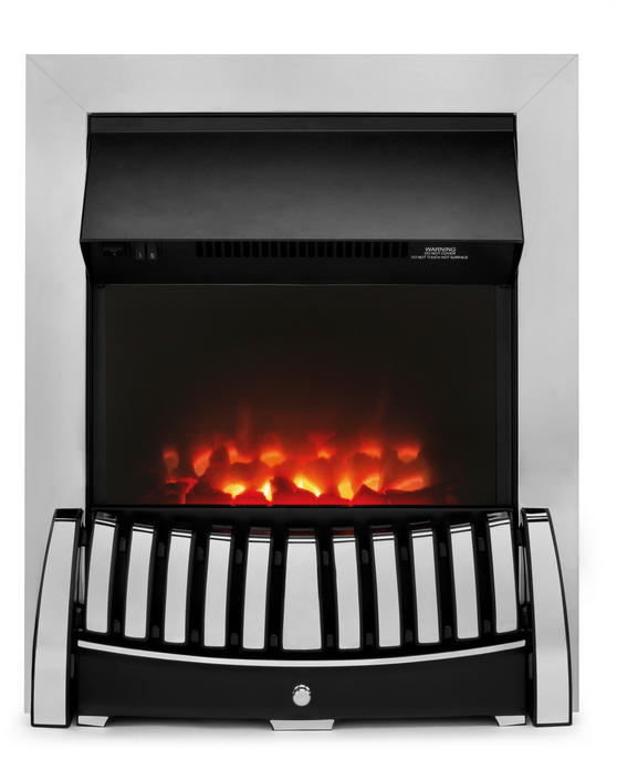 Beldray EH1843STK Almeria Chrome Effect Inset Electric Fire Thumbnail 1