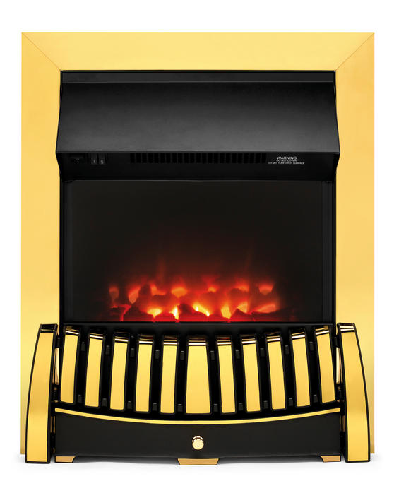Beldray EH1844STK Almeria Brass Effect Inset Electric Fire