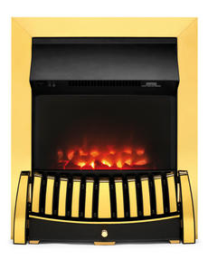 Beldray EH1844STK Almeria Brass Effect Inset Electric Fire Thumbnail 1