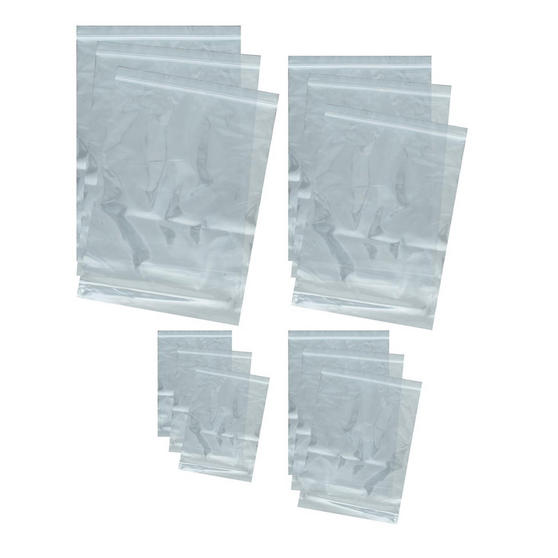 Web Tex WBAGPOL Pack of 12 Heavy-duty Resealable Poly Bags