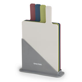 Salter 4 Piece Coloured Chopping Board Set