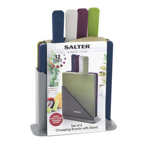 Salter 4 Piece Coloured Chopping Board Set Thumbnail 2