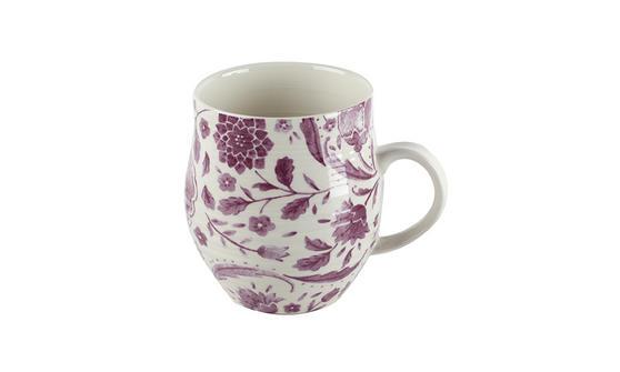 Portobello Anglesey Purple Leaves Stoneware Mug