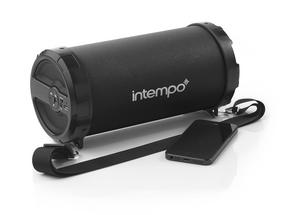 Intempo EE1274BK Black Large Rechargeable Tube Speaker