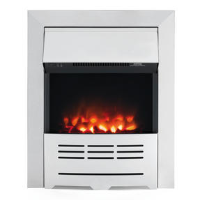 Beldray EH1911 Seville Brushed Steel Effect Inset or Free Standing Electric Fire