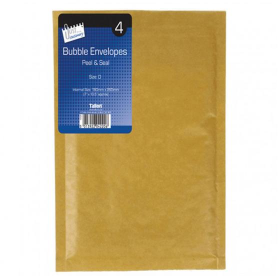 Supreme 4220 Size D Bubble Envelopes, Pack of 4
