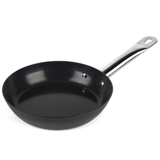 Russell Hobbs BW05465BS Infinity Preseasoned Carbon Steel Frying Pan, 20 cm, Black