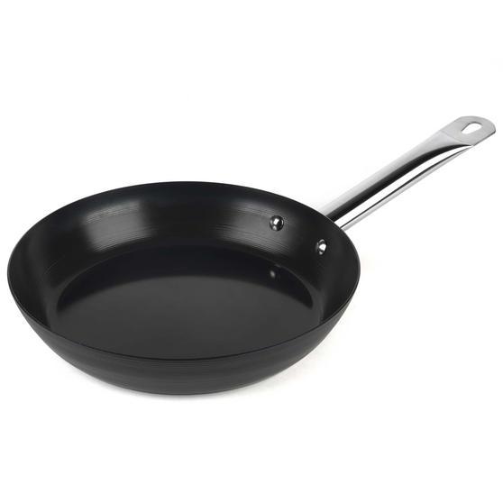 Russell Hobbs BW05466BS Infinity Preseasoned Carbon Steel Frying Pan, 24 cm, Black
