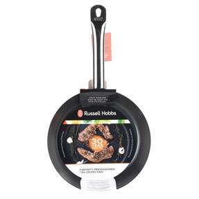 Russell Hobbs BW05466BS Infinity Preseasoned Carbon Steel Frying Pan, 24 cm, Black Thumbnail 7