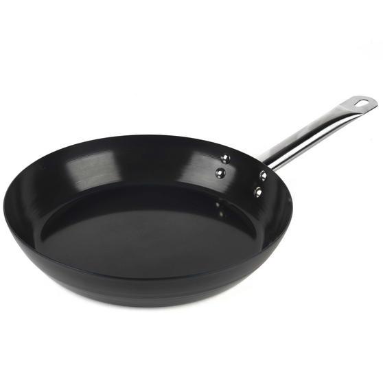 Russell Hobbs BW05467BS Infinity Preseasoned Carbon Steel Frying Pan, 28 cm, Black