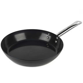 Russell Hobbs BW05467BS Infinity Preseasoned Carbon Steel Frying Pan, 28 cm, Black Thumbnail 1