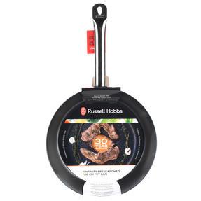 Russell Hobbs BW05467BS Infinity Preseasoned Carbon Steel Frying Pan, 28 cm, Black Thumbnail 7