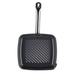Russell Hobbs BW05469BS Infinity Preseasoned Carbon Steel Griddle Pan, 26 cm, Black Thumbnail 2