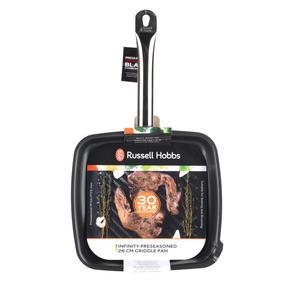 Russell Hobbs BW05469BS Infinity Preseasoned Carbon Steel Griddle Pan, 26 cm, Black Thumbnail 7