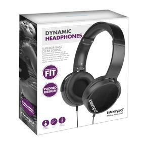 Intempo EE1264 Dynamic Black Over-ear Headphones Thumbnail 3