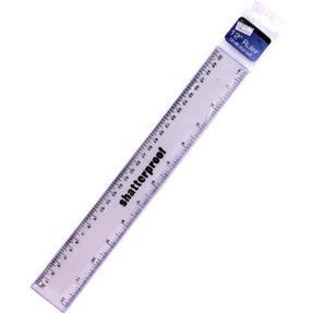 Just Stationery 6072/72 12 inch Metallic Shatterproof Ruler Thumbnail 1
