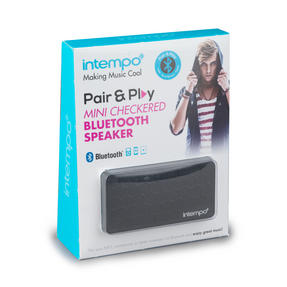 Intempo Checkered Mini Bluetooth Speaker Thumbnail 3