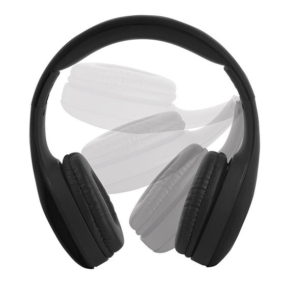 Intempo Black Foldable Over Ear Headphones With Rubber Finish