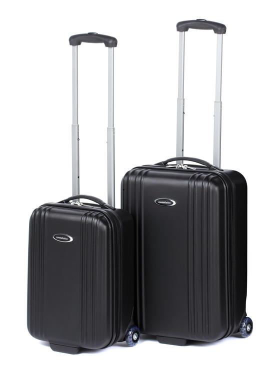 "Constellation Cordoba ABS Suitcase Set, 18 & 28"", Black"