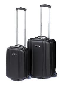 "Constellation Cordoba ABS Suitcase Set, 18 & 28"", Black Thumbnail 1"