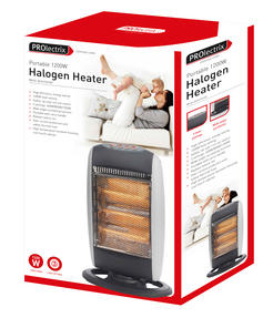 Prolectrix EH0197 1200W Halogen Heater with 3 Heat Settings Thumbnail 6