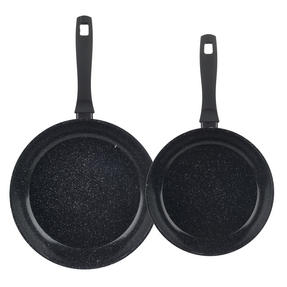 Russell Hobbs Stone Collection Set of 2 Frying Pans, 24/28cm, Black Thumbnail 2