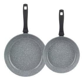 Russell Hobbs Stone Collection Set of 2 Frying Pans, 24/28cm, Grey Thumbnail 2